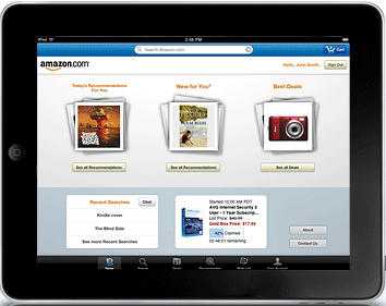 Amazon on iPad