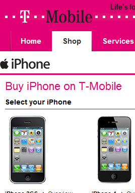 T-Mobile now stocks the iPhone 4