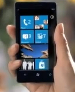 Microsoft show of the first Windows Phone 7 device