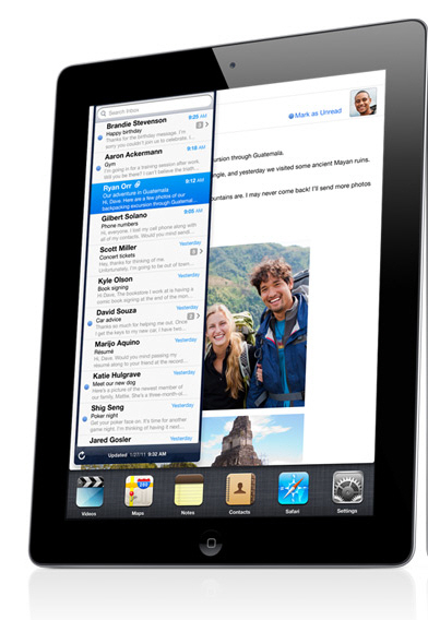 Thinner, lighter, faster, better, iPad2 and it's out this month